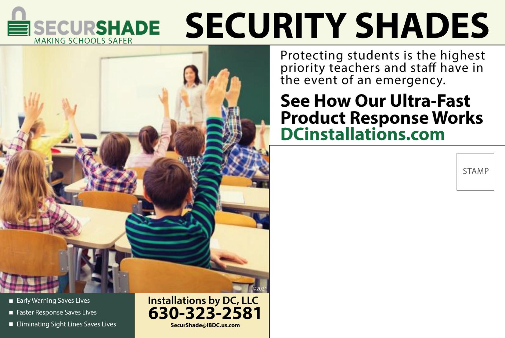 SecurShade Postcard Back